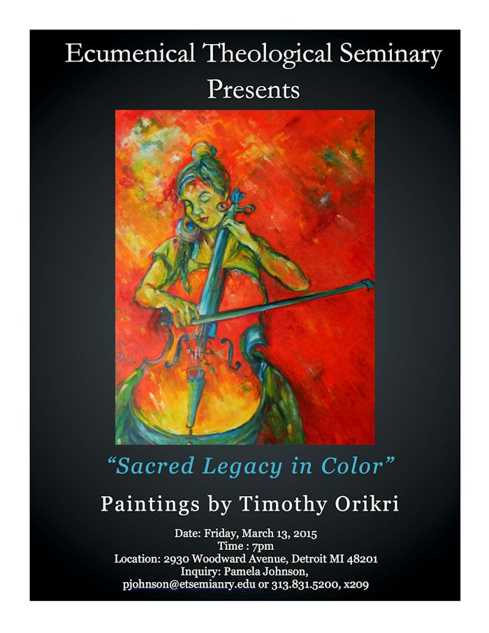 Sacred Legacy in Color - Timothy Orikri